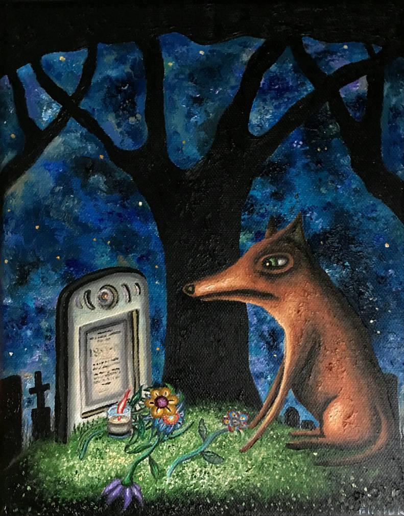 The dead man's best friend by marcelflisiuk
