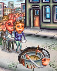 The Pothole Chef by marcelflisiuk