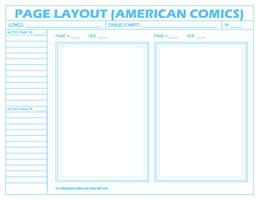 Comic Layout Page - American by FutureshockComics
