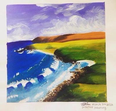 Mini seascape by toastiibunz