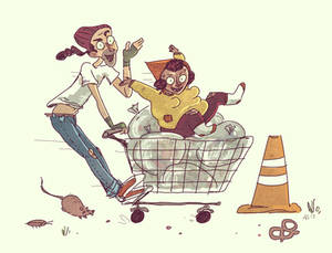 Jasper and Margo doodle