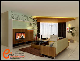 Taman Anggrek,Living room 1 by cuanz