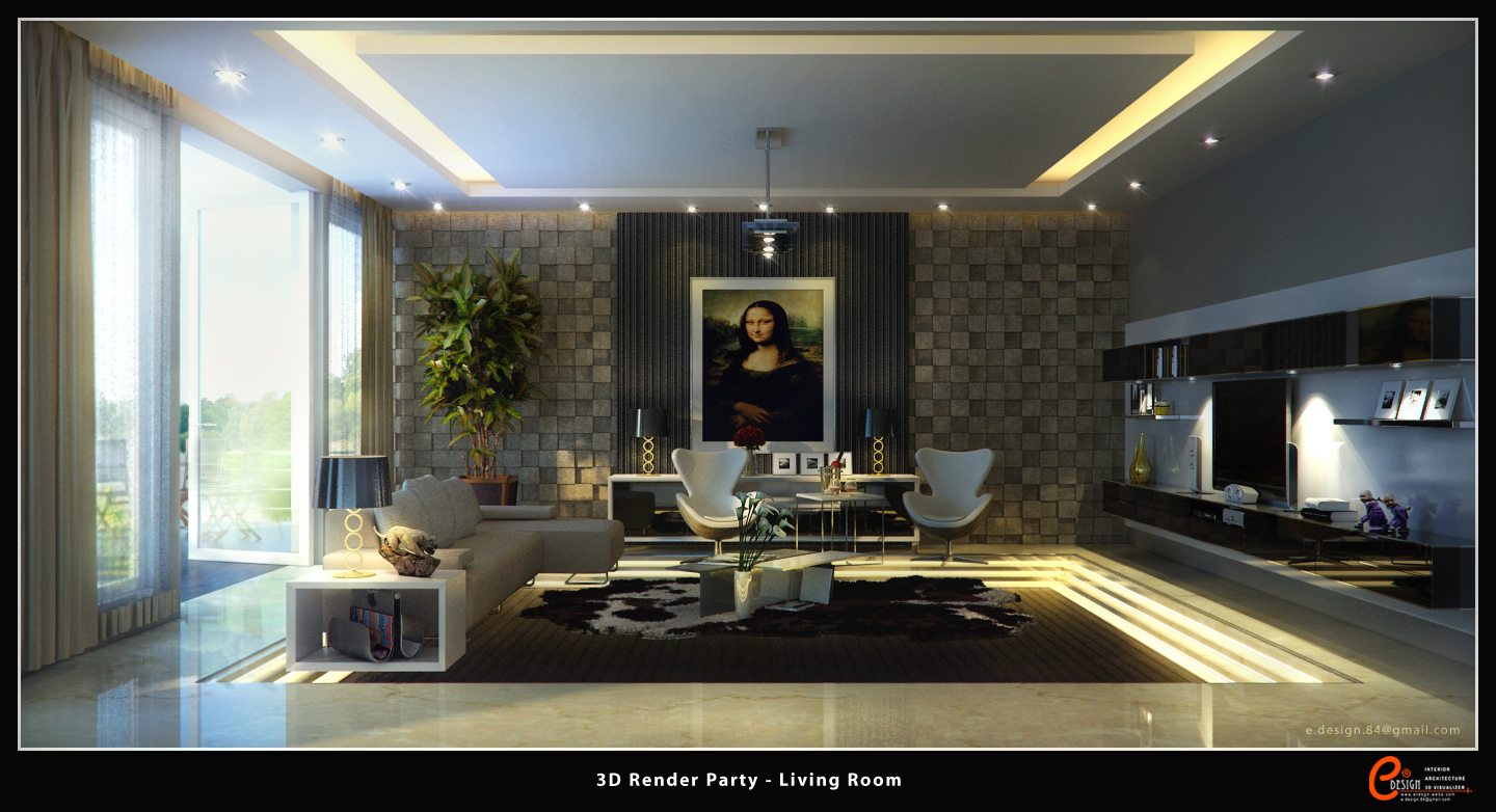 Living Room 1 3d Render Party By Cuanz On Deviantart