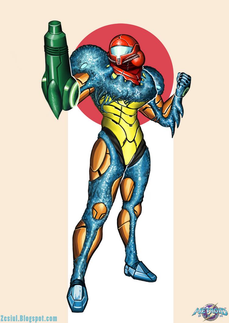 Fusion Suit Samus By Zesiul On DeviantArt