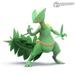 Sceptile Smashified Transparent