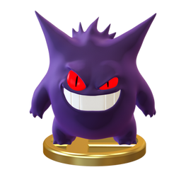 Gengar Trophy Smashified by Zesiul