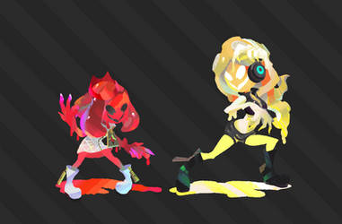 Ketchup Pearl and Mayo Marina by Zesiul
