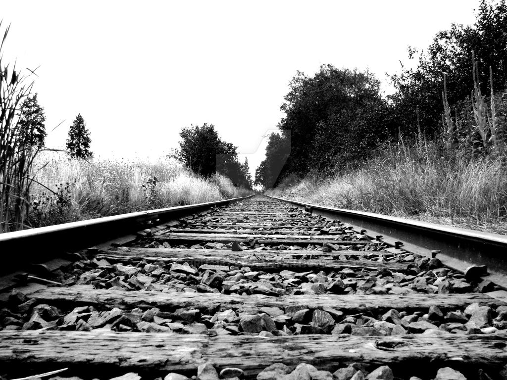Black And White Train Tracks By Brit1187 On DeviantArt