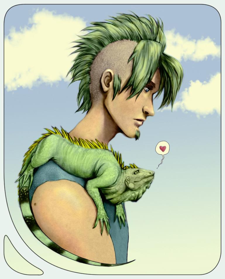 Iguana Guy by traumtaenzer
