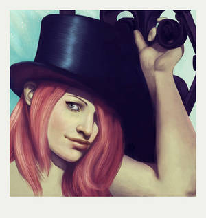 Redhead with Top Hat