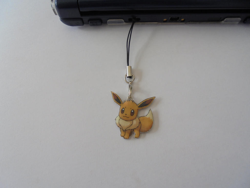 Pokemon Eevee  Mobile Charm - Nintendo DS Charm by Vavercraft