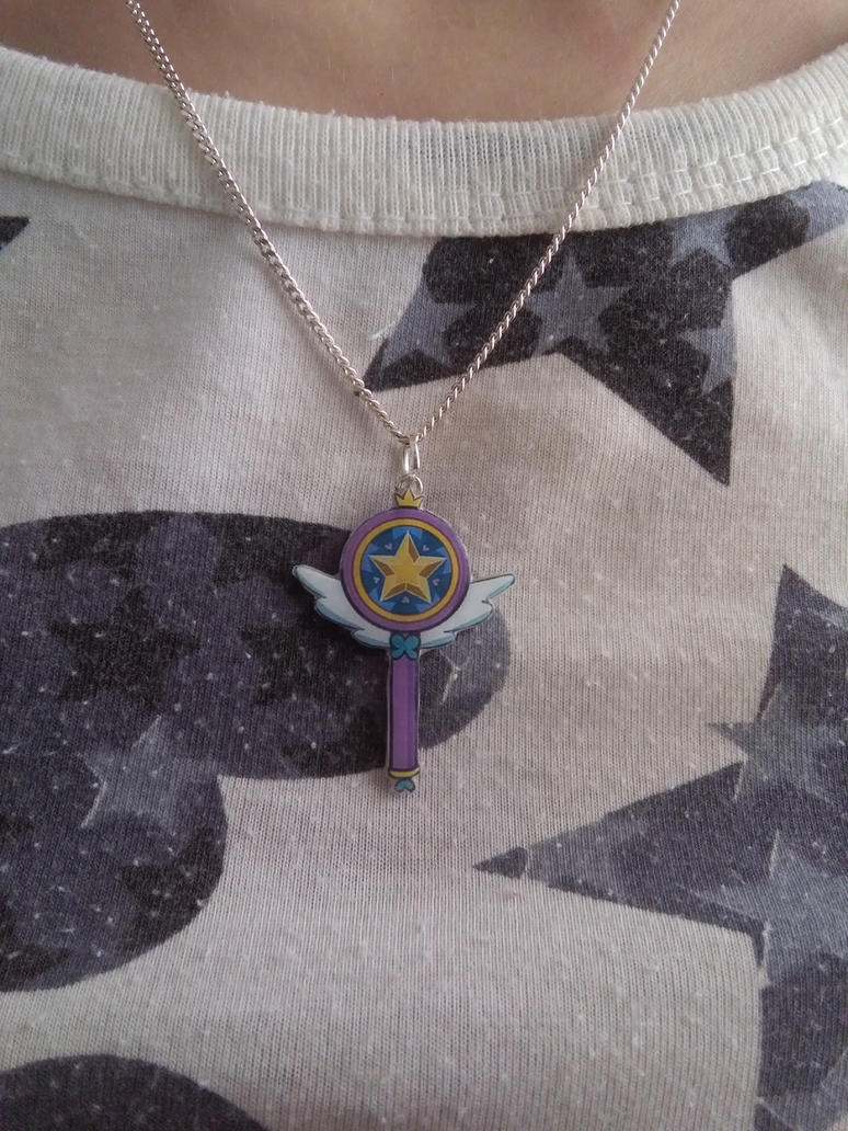 Star vs the Forces of Evil Wand Necklace by Vavercraft