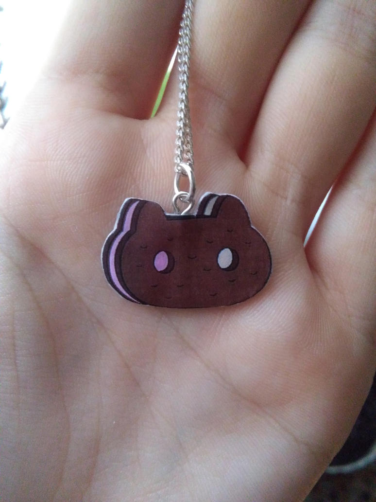 Steven Universe cookie cat neckace by Vavercraft