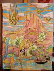 Trippy Dolphie by americanimengel
