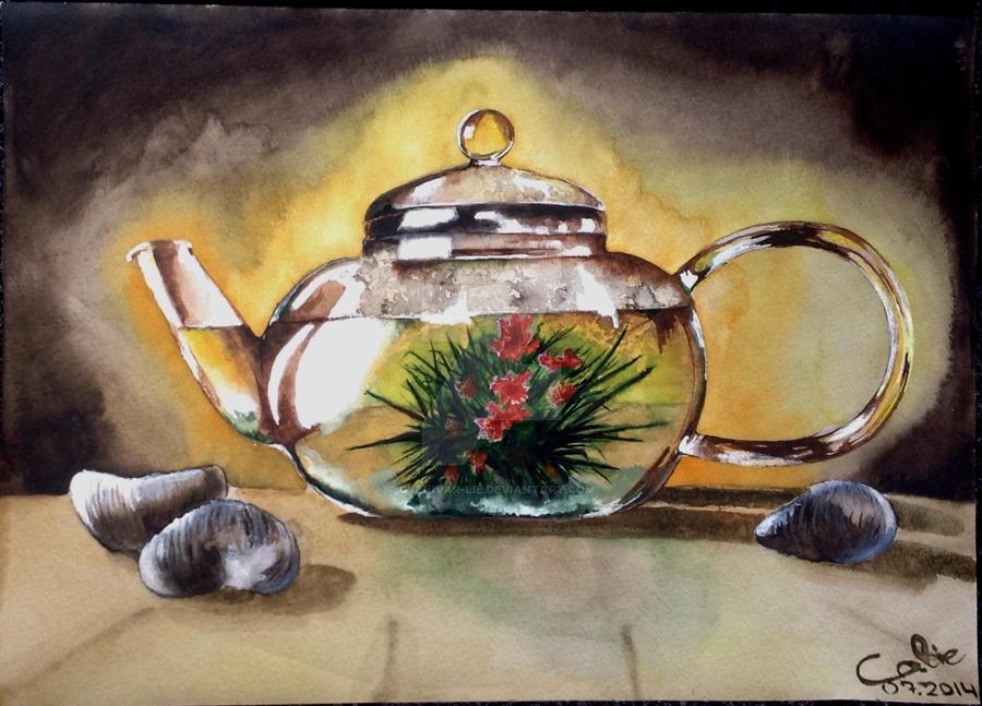 Green herbal tea by Gvenivar-Lie