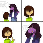 Deltarune comic #1: WHERE ARE THEIR EYES?