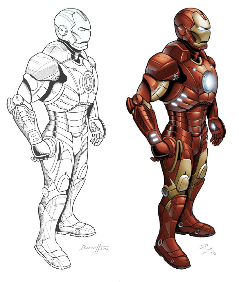 Iron Man - Ink And Color By Barneybluepants On DeviantArt