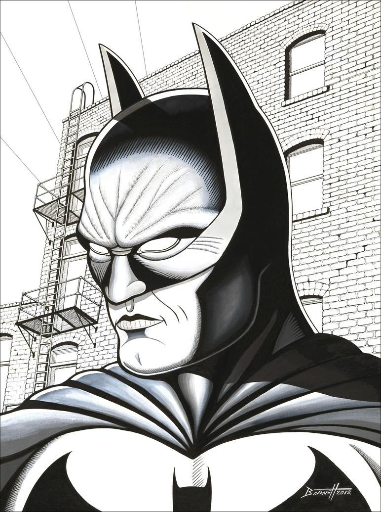 Batman (ink) by barneybluepants