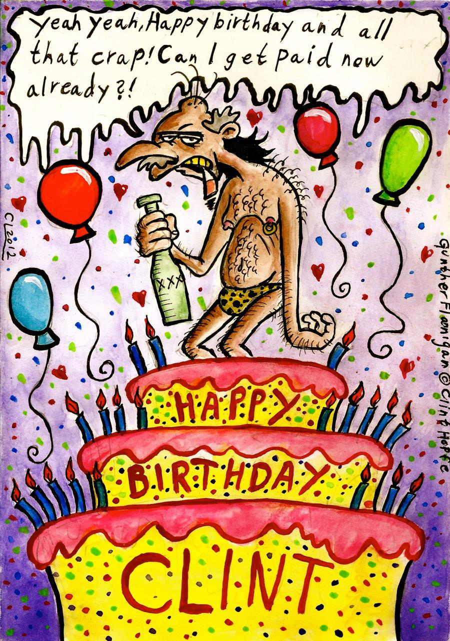 Happy Birthday Clint Cake