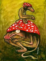 Toadstool trolls by chricko