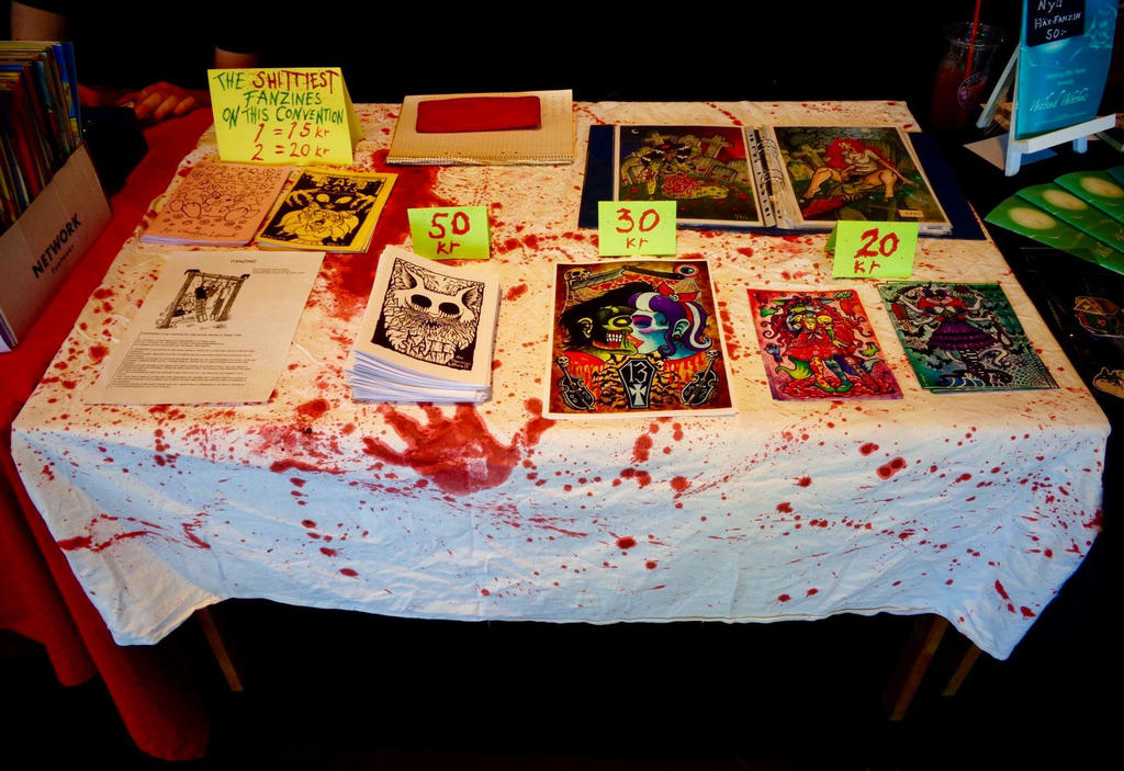 My table at Stockholm's comic festival 2018 by chricko on
