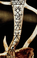 Reindeer mount 11, carved antlers by chricko