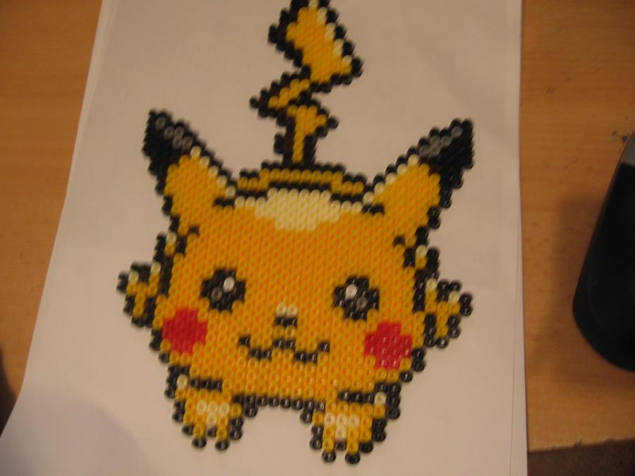 Pikachu Bead by sazmullium