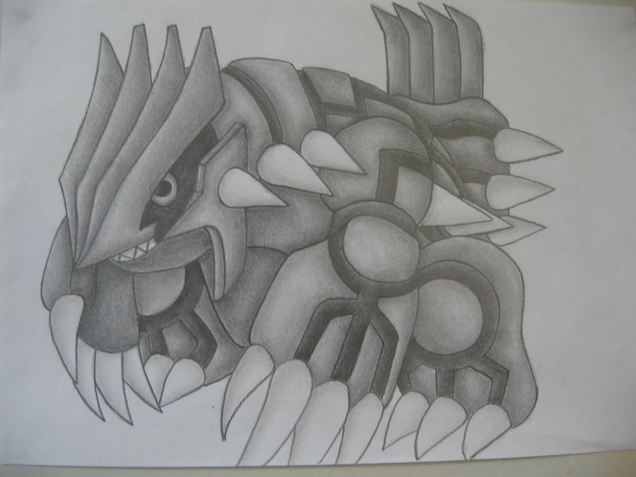 Groudon Drawing by sazmullium