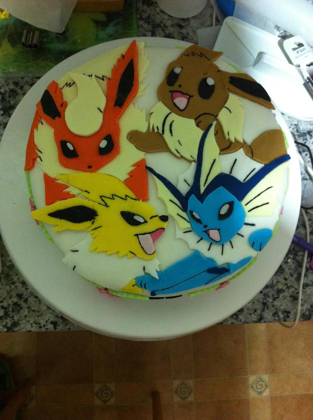 Eevee Birthday Cake