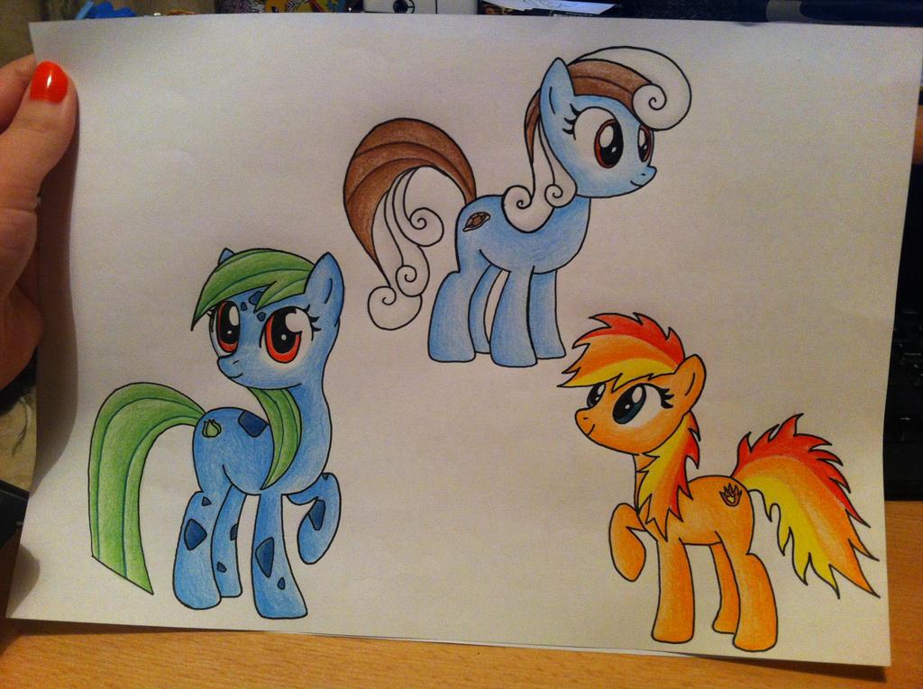 My Little Pony/Pokemon- Kanto Starters by sazmullium