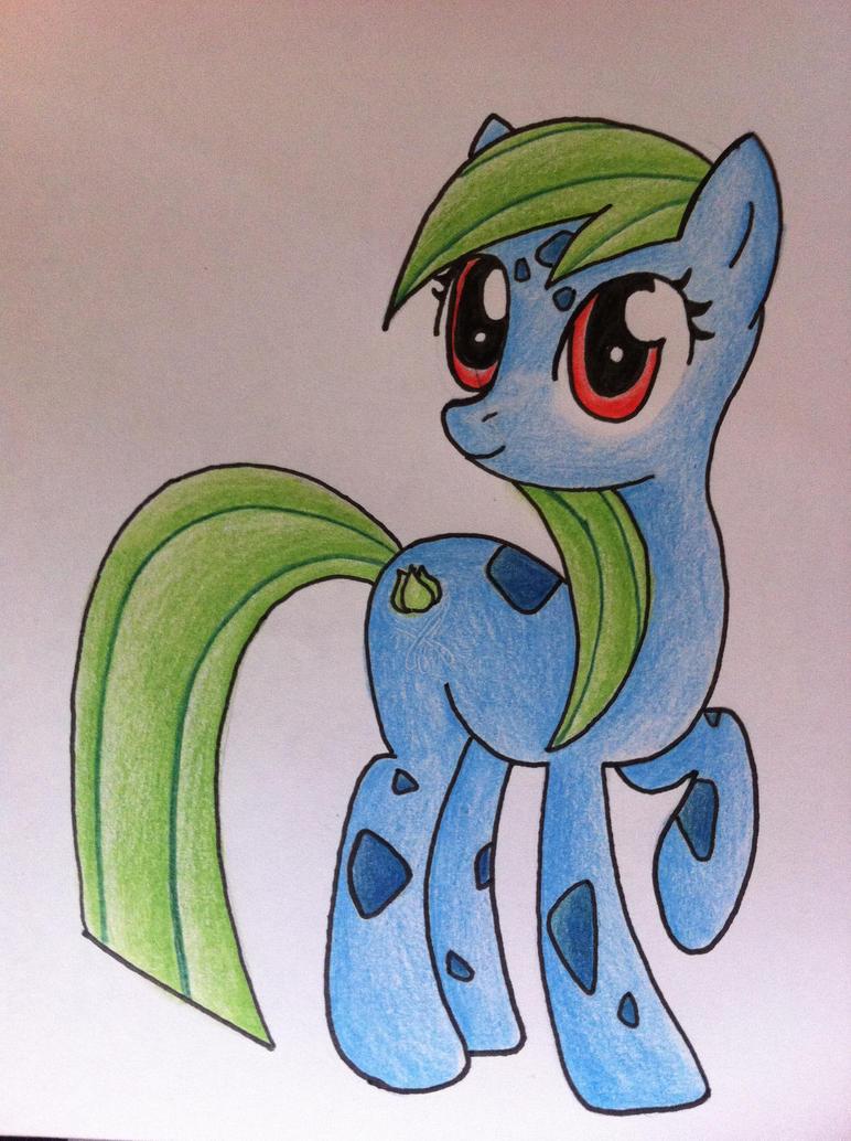 My Little Pony/Pokemon- Bulbasaur by sazmullium