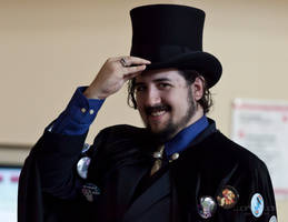Cool Tophat Guy by lupiniastudios