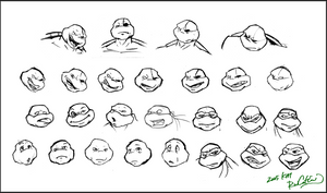 TMNT TBOTS  Face Expressions