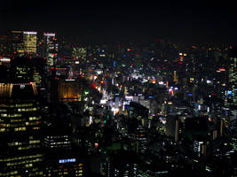Night View From Tokyo Tower 8 by theblindalley