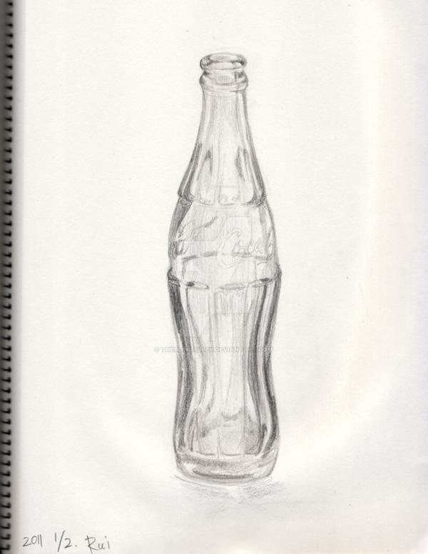 Coke Bottle Sketch by theblindalley on DeviantArt