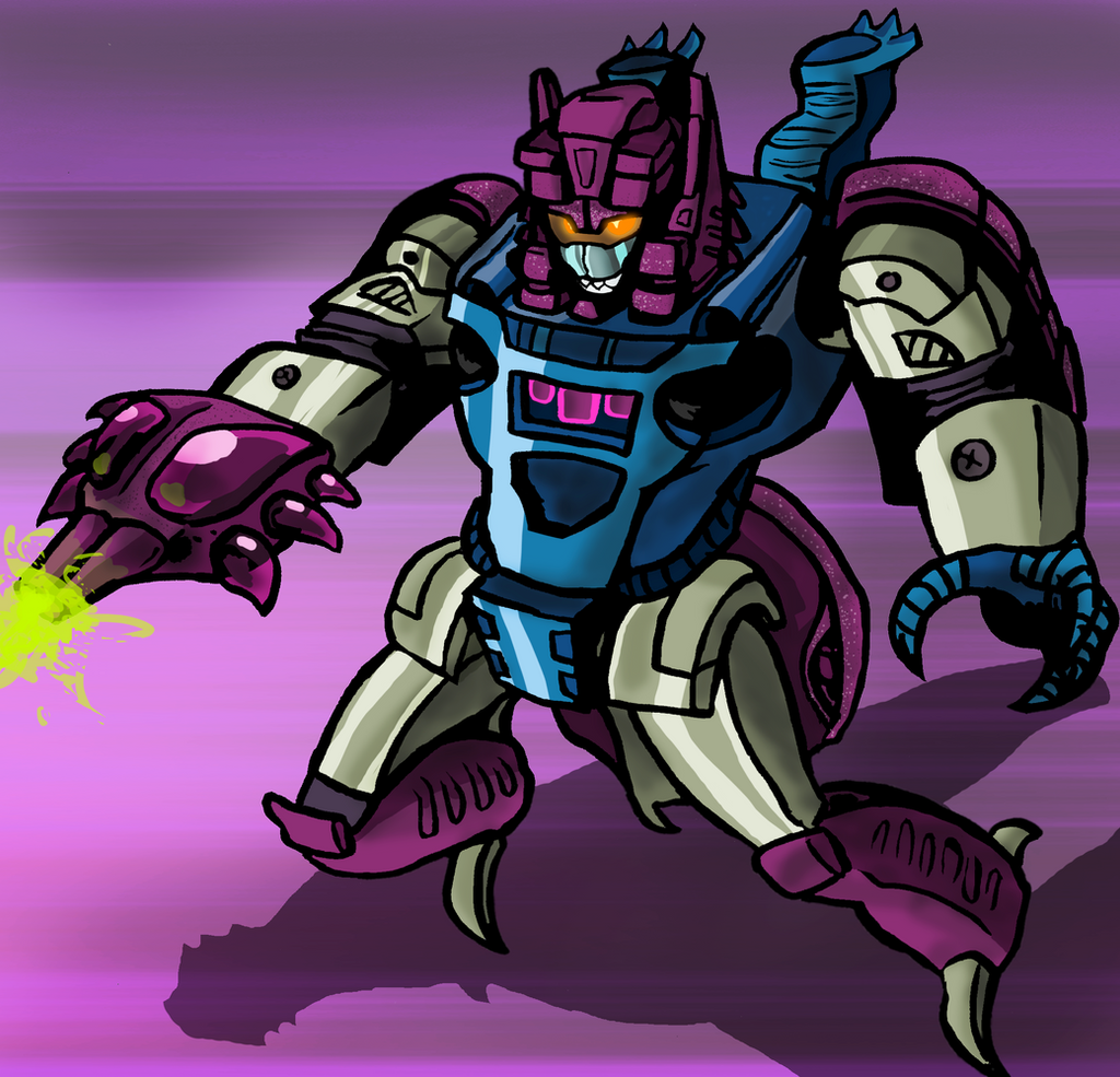 Decepticon Headmaster Jr. Squeezeplay by DF16