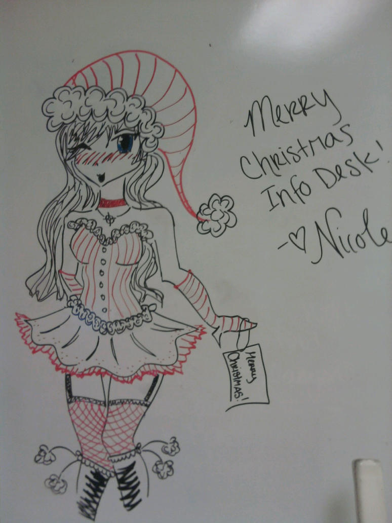 Whiteboard christmas anime by lilinia on deviantart for Cute whiteboard drawings
