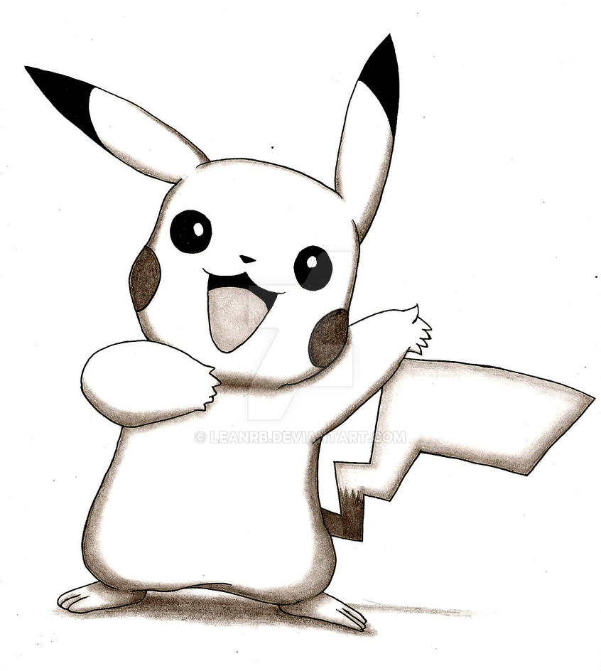 how to draw pikachu with pencil