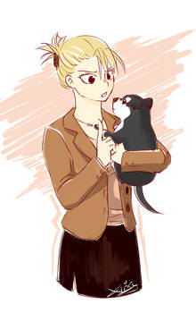 Riza and Black Hayate