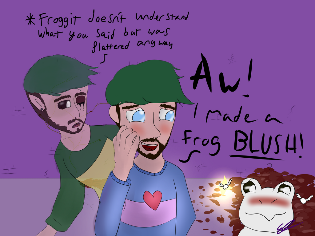 Making frogs blush by Flyingfishflops