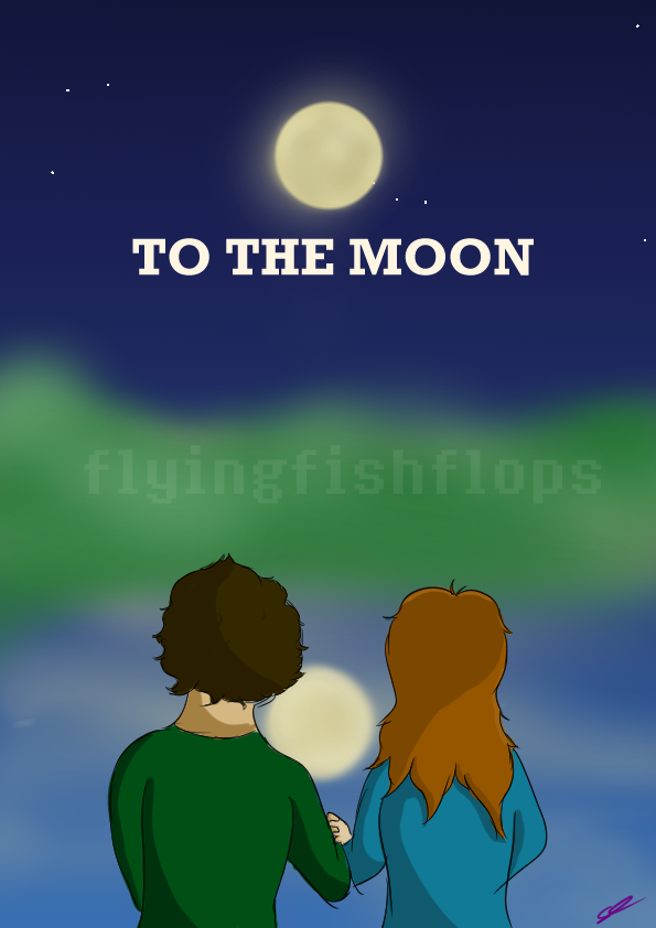 To the moon by Flyingfishflops