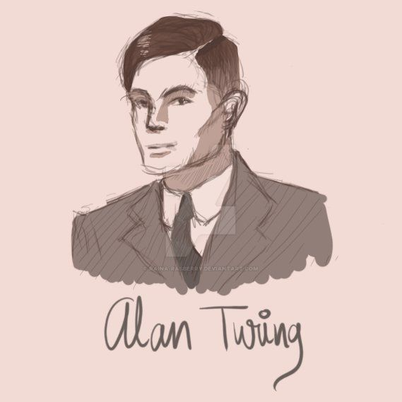 Alan Turing by Raina-Rasberry
