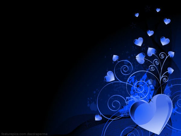 Blue Heart Back... Blue Heart Background Wallpaper