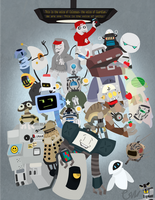 Robots robots and more robots by Gimeurcookie