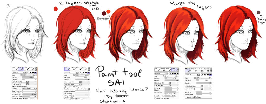 Hair coloring tutorial by Aohitsuki on DeviantArt