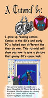 Vintage Comic Tutorial by onyxrayne