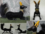 Anubis Poseasble Art Doll