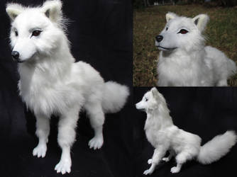 SOLD Ghost from Game of Thrones OOAK Art Doll