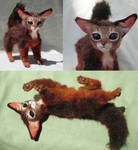Abyssinian Kitten Poseable Art Doll
