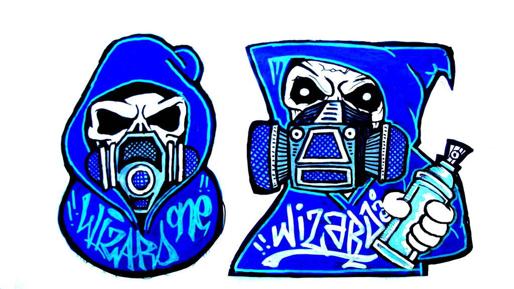 graffiti gasmask character stickers by wizard1labels on ...